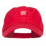 Mini 100 Percent Embroidered Low Cap - Red