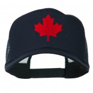 Canada's Maple Leaf Embroidered Mesh Back Cap - Navy
