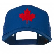 Canada's Maple Leaf Embroidered Mesh Back Cap - Royal