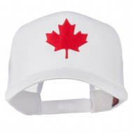 Canada's Maple Leaf Embroidered Mesh Back Cap - White