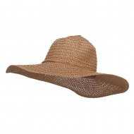 Floppy Hat with Coconut Ring Band - Tan