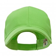 Made in USA Structured Chino Twill Cap - Lime Green