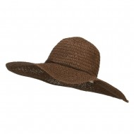 Floppy Hat with Coconut Ring Band - Brown