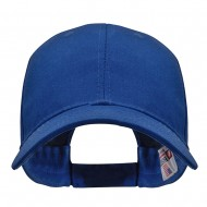 Made in USA Structured Chino Twill Cap - Royal Blue