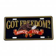 Assorted 3D Car Plates - Freedom