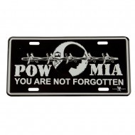 Assorted 3D Car Plates - Pow Mia