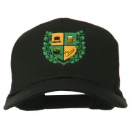 St Patrick's Day Crest Embroidered Cap - Black