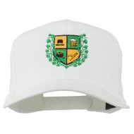 St Patrick's Day Crest Embroidered Cap - White