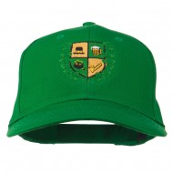 St Patrick's Day Crest Embroidered Cap - Kelly