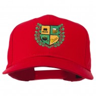 St Patrick's Day Crest Embroidered Cap - Red
