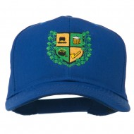 St Patrick's Day Crest Embroidered Cap - Royal
