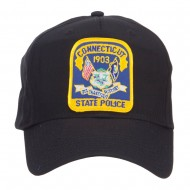 Connecticut Police Seal Patched Cotton Twill Cap - Black