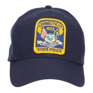 Connecticut Police Seal Patched Cotton Twill Cap - Navy