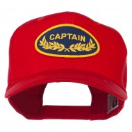 Captain Oak Leaf Military Patched Cap - Red