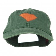 South Carolina State Map Embroidered Washed Cap - Dark Green