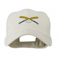 Small Crossed Bats and Ball Embroidered Cap - Stone