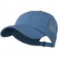 Low Profile Cotton Twill Mesh Cap - Blue