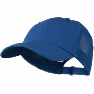 Low Profile Cotton Twill Mesh Cap - Royal