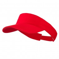 Cotton Twill Washed Soft Visors-Red