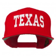 College Texas Embroidered Snapback Cap - Red