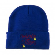 Celebrate the Season with Ornaments Embroidered Beanie - Royal