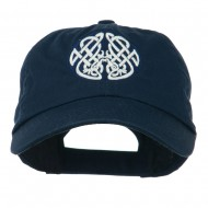 Celtic Emblem with Birds Embroidered Cap - Navy
