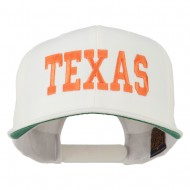 College Texas Embroidered Snapback Cap - Natural