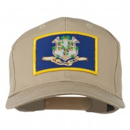 Connecticut State High Profile Patch Cap - Khaki
