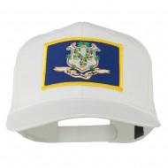 Connecticut State High Profile Patch Cap - White