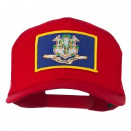 Connecticut State High Profile Patch Cap - Red