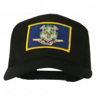 Connecticut State High Profile Patch Cap - Black