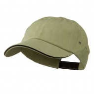 Contrast Ultra Heavy Weight Brushed Cotton Twill Cap - Khaki Black