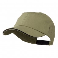 Contrast Ultra Heavy Weight Brushed Cotton Twill Cap - Stone Navy
