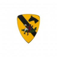1st Cavalry Division Cloisonne Military Pins - Helicopter