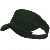 Cotton Twill Sun Visor - Dark Green