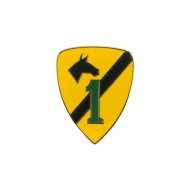 1st Cavalry Division Cloisonne Military Pins - 1
