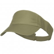 Cotton Twill Sun Visor - Khaki