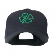 4 Leaf Clover Holiday Embroidered Cap - Navy