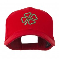 4 Leaf Clover Holiday Embroidered Cap - Red