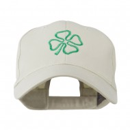 4 Leaf Clover Holiday Embroidered Cap - Stone