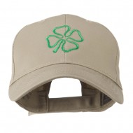 4 Leaf Clover Holiday Embroidered Cap - Khaki