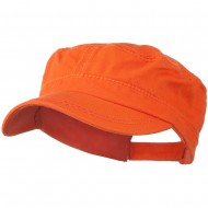 Colorful Washed Military Cap - Orange