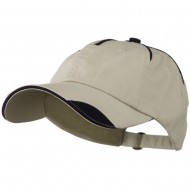 Low Profile Unstructured Cotton Washed Cap - Stone Navy