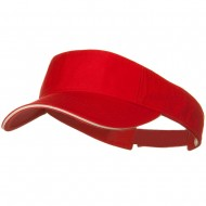 Prostyle Cotton Twill Washed Sandwich Visor - Red White