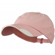 Low Profile Unstructured Cotton Washed Cap - Light Pink White
