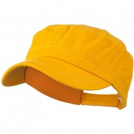 Colorful Washed Military Cap - Yellow