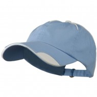 Low Profile Unstructured Cotton Washed Cap - Light Blue White