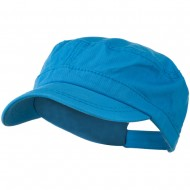 Colorful Washed Military Cap - Turquoise