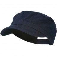 Colorful Washed Military Cap - Navy