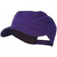 Colorful Washed Military Cap - Purple